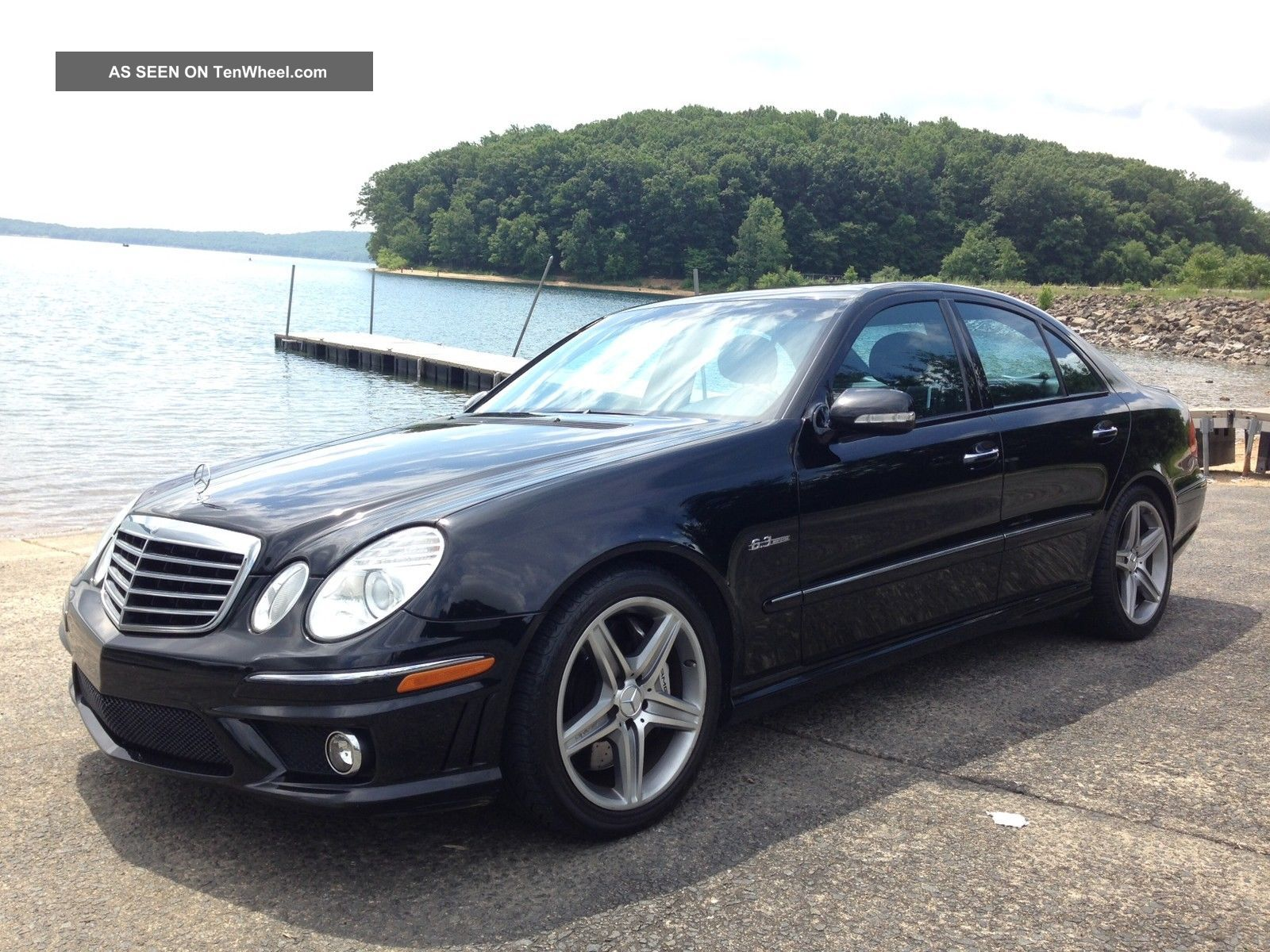 2008 Mercedes Benz E63 Amg Sedan Black / Black E-Class photo
