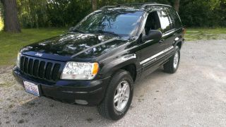 2000 Jeep Grand Cherokee Limited V8 Loaded Black On Black Fresh Engine photo