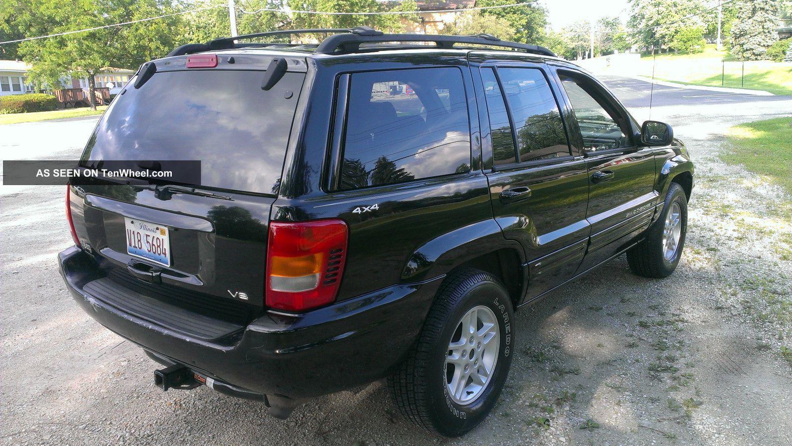 2000 jeep grand cherokee limited v8 loaded black on black. Black Bedroom Furniture Sets. Home Design Ideas