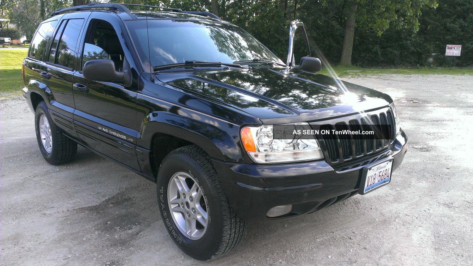 2000 jeep grand cherokee limited v8 loaded black on black fresh engine. Black Bedroom Furniture Sets. Home Design Ideas