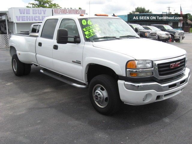 2006 Gmc Sierra 3500 Diesel 4x4 Crew Cab Slt Dually One Florida Owner Sierra 3500 photo