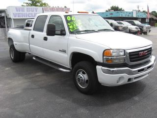 2006 Gmc Sierra 3500 Diesel 4x4 Crew Cab Slt Dually One Florida Owner photo
