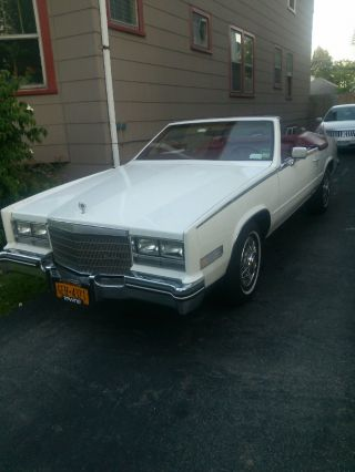1984 Cadillac Eldorodo Biarritz Convertable White With Red,  White Top photo