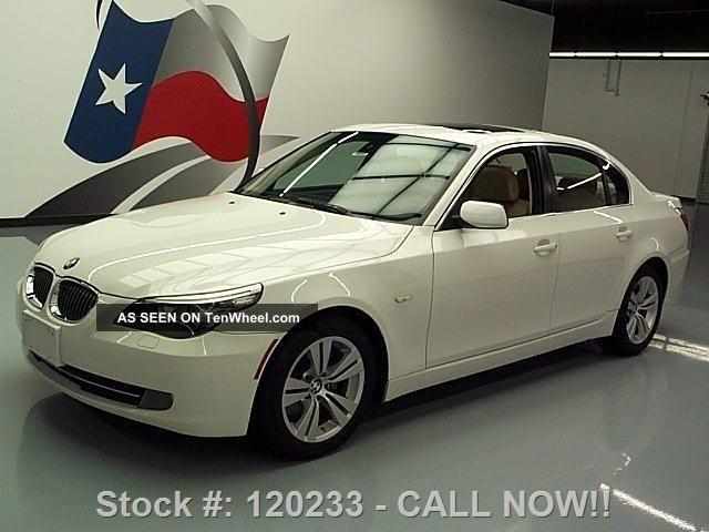 2009 Bmw 528i Sedan Automatic Alloy Wheels 68k Texas Direct Auto 5-Series photo