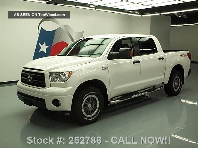 2012 Toyota Tundra Rock Warrior Crewmax 4x4 5.  7l 16k Mi Texas Direct Auto Tundra photo