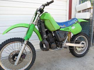 Kawasaki Kx500 1986 Running Registered Title Green Sticker Needs Work photo