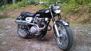 1967 Honda Cb450d Black Bomber W / Factory Scrambler Kit.  Time Capsule photo