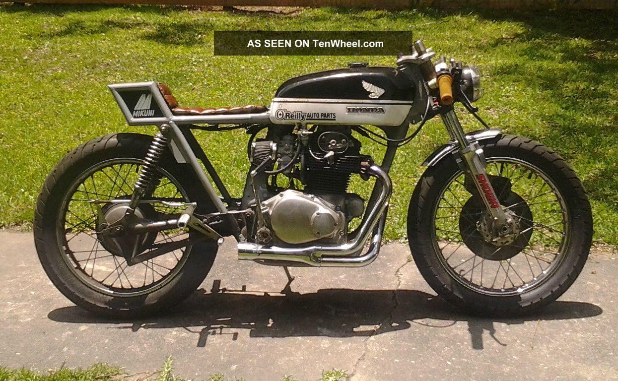 1972 Honda Cb350 Rat Rod Cafe Racer Vintage Motorcycle