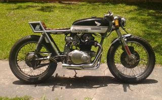 1972 Honda Cb350 Rat Rod Cafe Racer Vintage Motorcycle photo