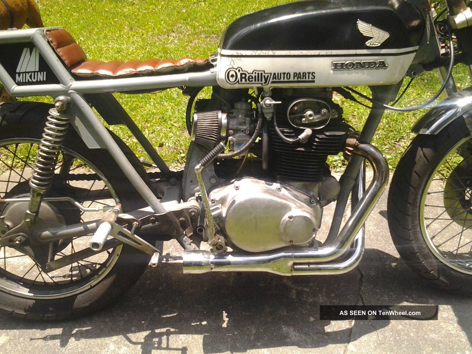 1972 Honda Cb350 Rat Rod Cafe Racer Vintage Motorcycle CB photo 5