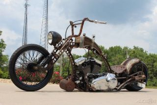 2013 Custom Rat Bobber Chopper,  96