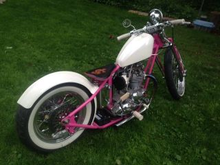 1961 Triumph 650 Motorcycle Custom Chopper photo