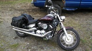 2007 Yamaha V - Star 1100 Custom Black Cherry W / Tribal Flames photo