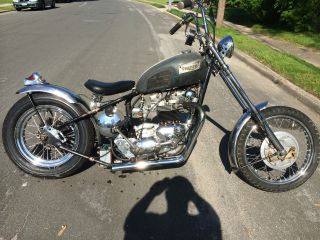1969 Triumph Hardtail Chopper Rat Bike photo