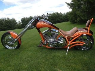 2010 Bourget Bike Works Fat Daddy 330 Softail Chopper Custom Motorcycle photo