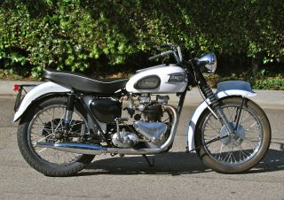 1957 Triumph Thunderbird,  650 Pre - Unit,  Matching Numbers,  Great Riding Condition photo