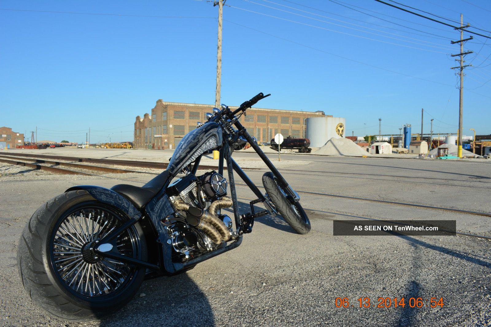 Custom Chopper Softtail Springer Air Ride Show Winner