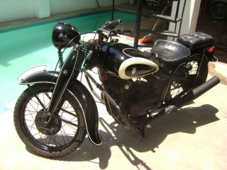 Classic Dkw 1939 German Motorcycle (pre Wwii) photo