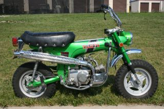 1970 Honda Ct70h Ko 4 Speed Manual Trans.  Unrestored Emerald Green With Title photo