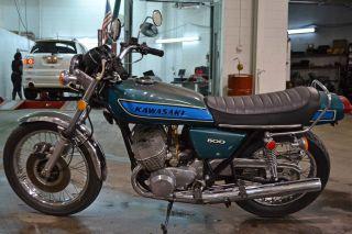 1975 Kawasaki 500 Tripple photo