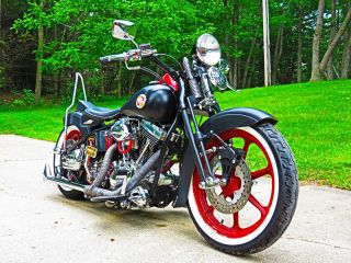 2000 Harley Bobber Springer Custom Rat Rod Twin Cam 4 - Speed Kicker photo