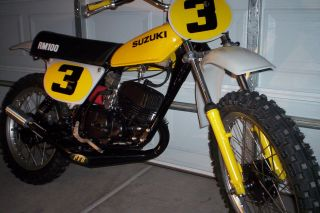 Suzuki Rm100a Vintage 1976 Rm 100 Ahrma Ready To Race photo