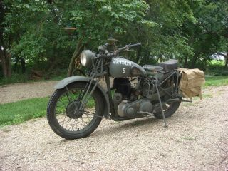 1942 Bsa Wm20 World War 2 Motorcycle photo