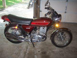 1975 75 Kawasaki S3 400 Kh400 Kh 2 Stroke Triple photo