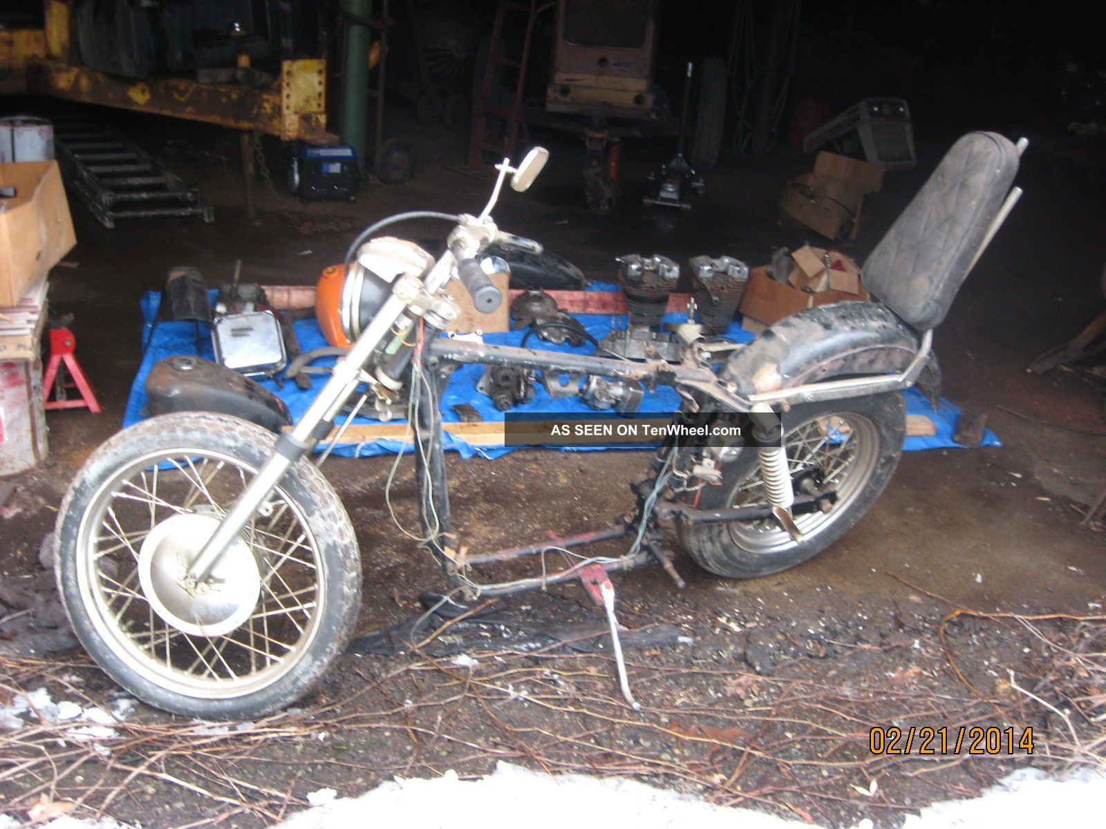 1968 Ironhead Sportster Xlch Pan Head Bobber Project