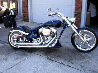 2005 Big Dog Bull Dog Blue Motorcycle Chopper Custom photo