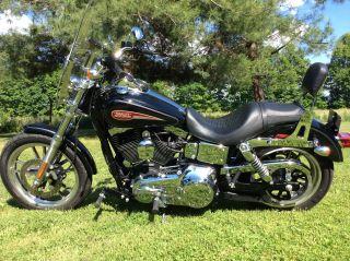 2007 Harley Davidson Fxdl Dyna Low Rider,  Black, ,  Great Shape photo