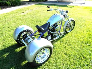 2004 Custom 3 Wheeler Chopper Trike (trade Custom Truck) Hot Rod Like Harley photo
