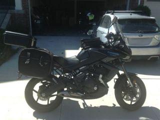 2012 Black Kawasaki Versys Kle650 photo