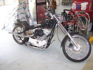 2002 Harley Davidson 1200 Sporster Rigid Frame Chopper Look photo
