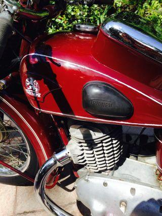 Antique German Motorcycle,  Triumph Bd 250 / 1942 photo