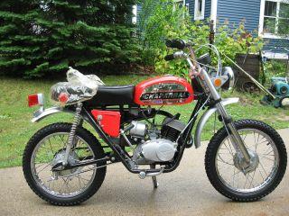 Rare Vintage Minibike / Mini Motorcycle Chaparral St80cc Bullet 1972 Clean photo