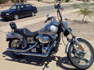 2002 Harley Davidson Ice Silver Dyna Wide Glide Motorcycle photo