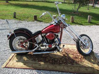 1977 Harley Davidson Sportster Hardtail Springer photo