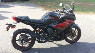 2012 Yamaha Fz6r 600 Bike Red Black photo