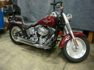 2002 Harley Davidson Fat Boy Red photo