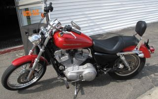 2004 Harley Davidson Sportster Xl883c Motorcycle Red 10k Mi Xl 883 C photo
