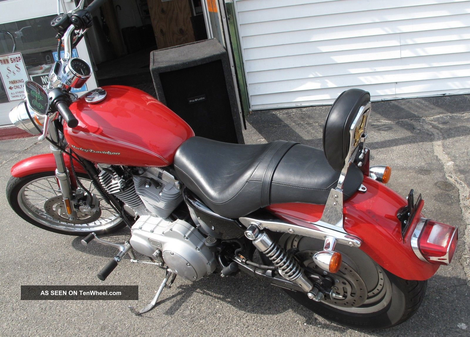 2004 Harley Davidson Sportster Xl883c Motorcycle Red 10k