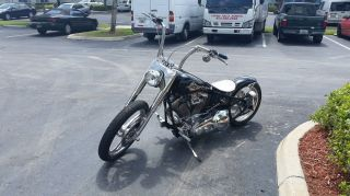2001 Custom Built Motorcycle Chopper Bobber Motorcycle Evo 80 photo
