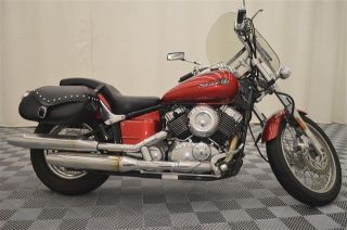 2008 Yamaha Vstar 650,  Red,  Windshield,  Bags photo