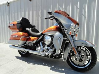 2014 Harley Davidson Electraglide Ultra Limited Flhtk Orange / Silver 134mi Trade? photo