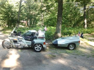 1999 Honda Goldwing With Rare Hannagin Tricar And Trailer photo