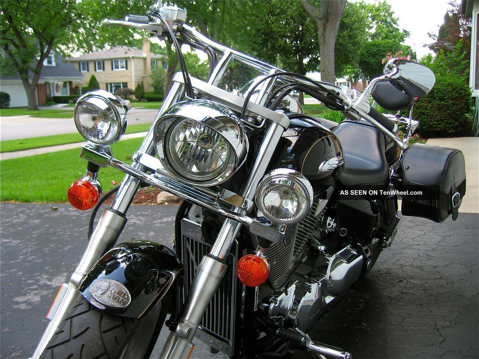 2006 Vtx 1300c, Black, Light Bar, Rear Carrier, Saddle Bags, Check