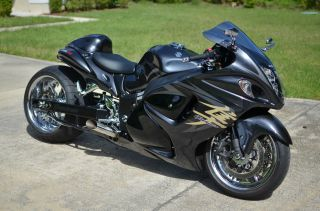 2008 Suzuki Hayabusa Gsx1300r Nitrous,  300 Kit,  Gps,  Rear Camera,  Chrome,  Voodoo photo