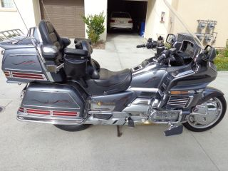 "1988 Honda Goldwing Gl1500.  Lots Of Chrome And Extras.  ""excellent"" photo"
