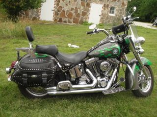 2004 Harley Davidson Heritage Softail Classic Motorcycle Flstc 1450 Cc photo